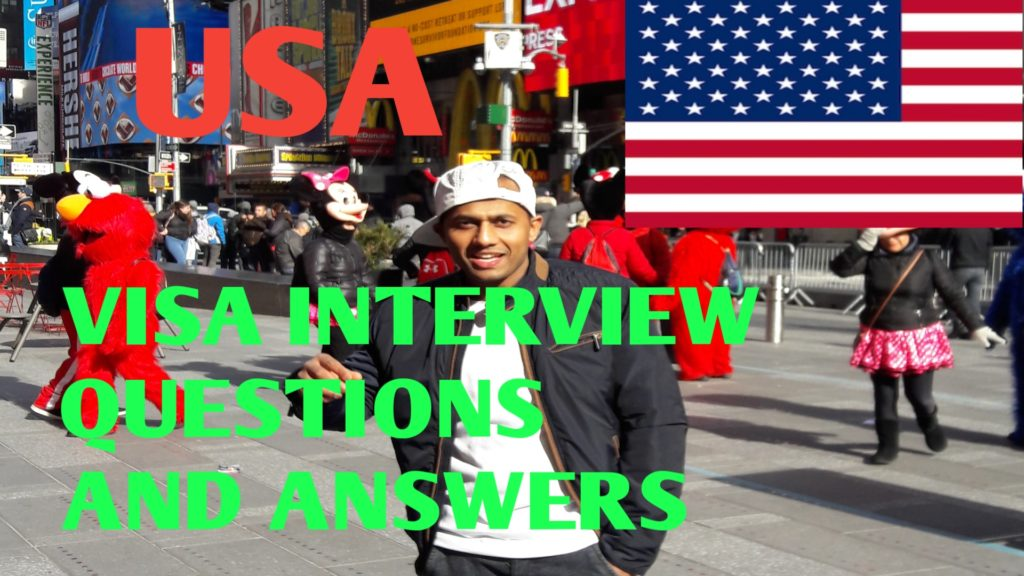 USA Flag with a boy with cap in New York City . C1D VISA INTERVIEW QUESTIONS AND ANSWERS